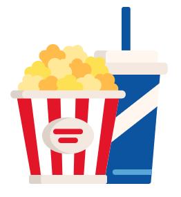 Popcorn og slushice