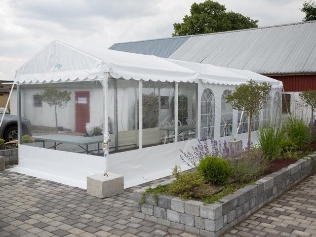 5 x 6 m hvidt telt – Langå Teltudlejning